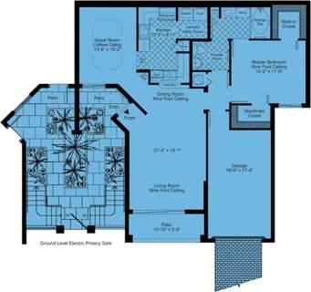 1 Bed / 1 Bath / 1,114 sq ft / Rent: Call for Details