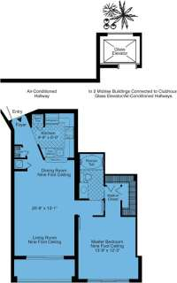 1 Bed / 1 Bath / 861 sq ft / Rent: Call for Details