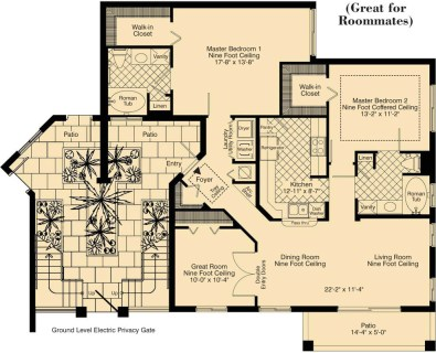 2 Bed / 2 Bath / 1,431 sq ft / Rent: Call for Details