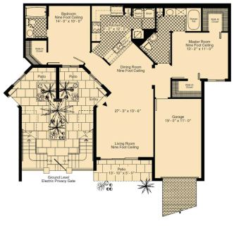 2 Bed / 2 Bath / 1,207 sq ft / Rent: Call for Details