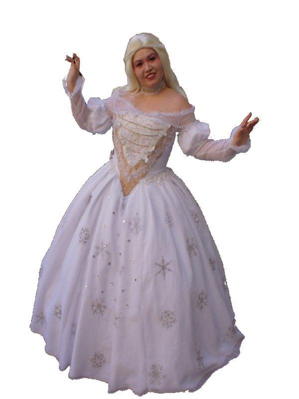 Costume carnevale regina bianca alice in wonderland
