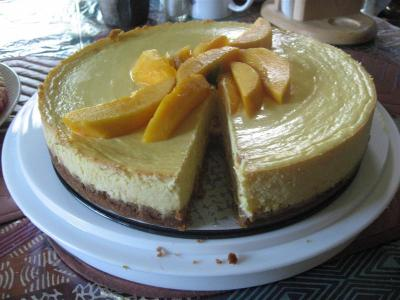 one of the Pie's Of Summer: Mango Cheese Cake