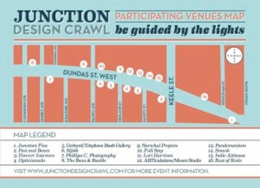 Junction Design Crawl Map