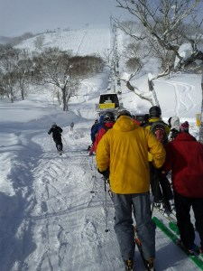 Skiing in Niseko, Swinging Monkey Lift