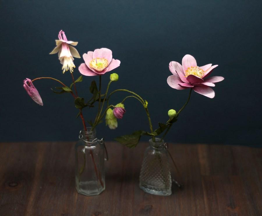Crepe Paper Flowers Anemones Aquilegia