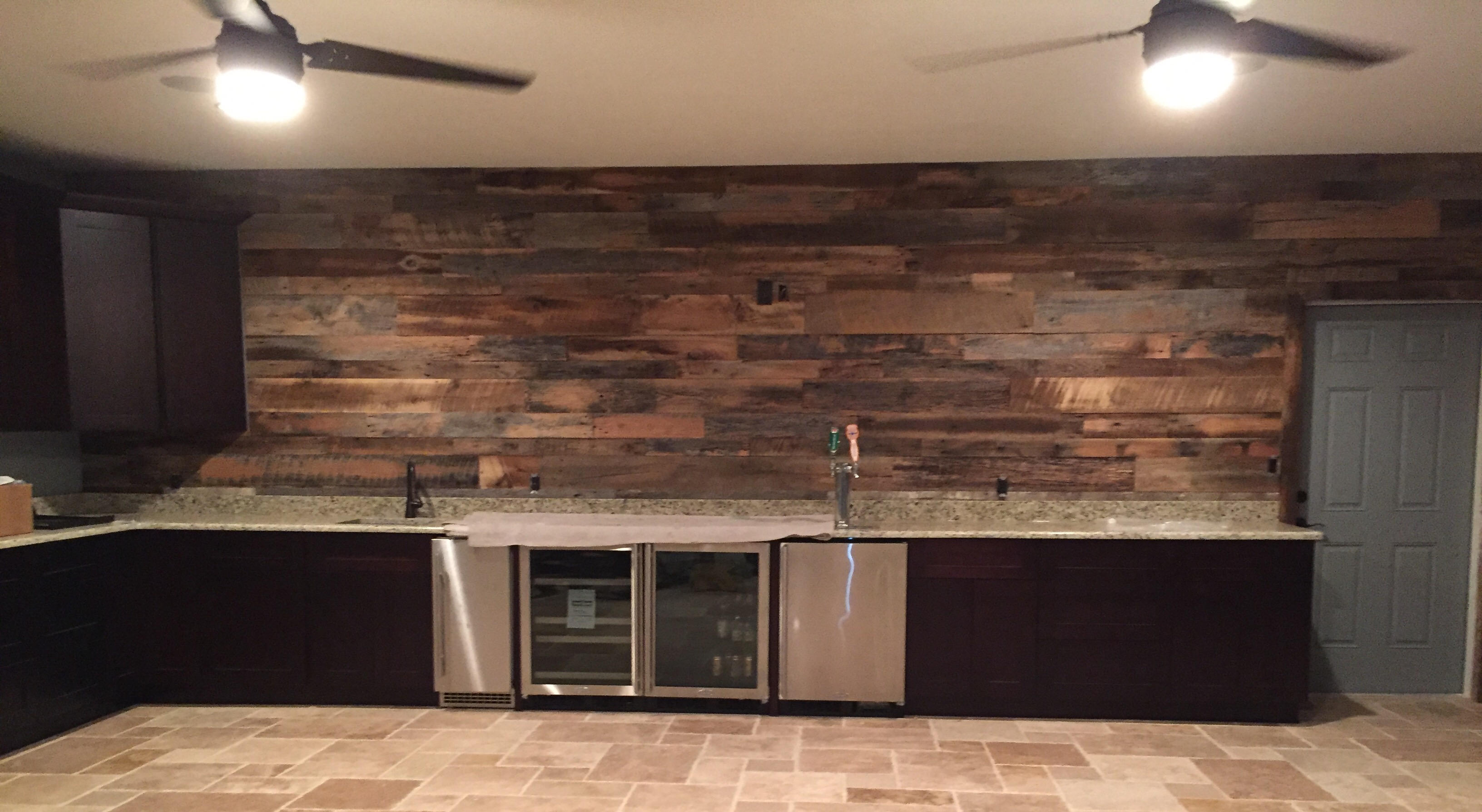 McGills Reclaimed Wood Wall Project Fama Creations