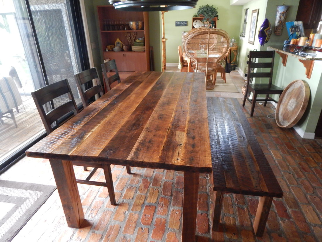 Dawn S Reclaimed Wood Farmhouse Dining Table Fama Creations