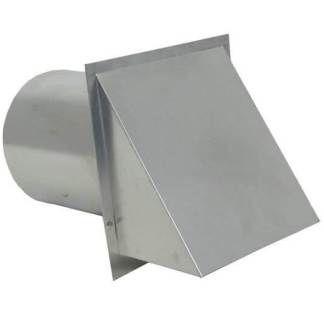 Hooded Wall Vent with Screen and Damper – Aluminum-0