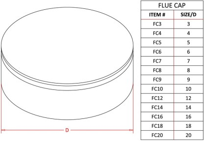 Flue Cap - Galvanized-1437