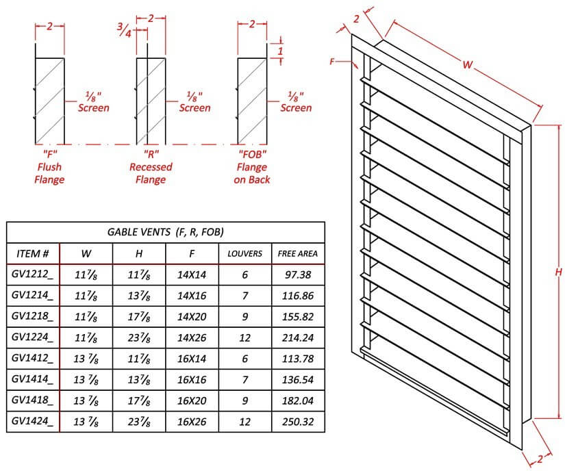 louvered gable vent galvanized steel