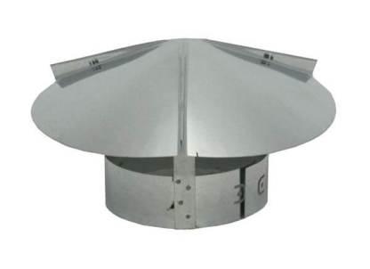 Cone Top Chimney Cap - Galvanized-0