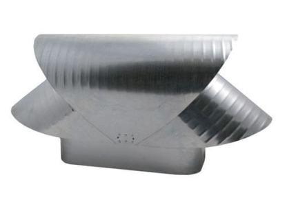 Square Flue Vacuum Cap - Galvanized-0