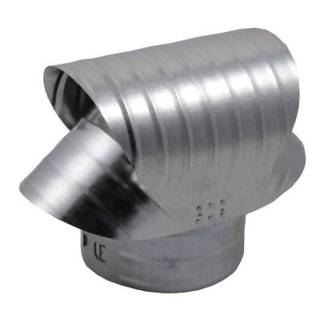 Round Base Chimney Vacuum Cap - Galvanized-0