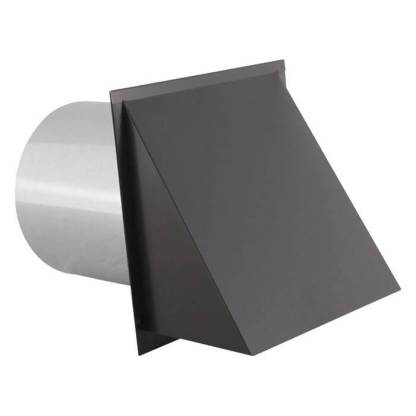Hooded Wall Vent with Screen - Painted-0
