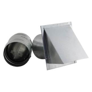 Galvanized Wall Vent - Reversible Backdraft Damper-0