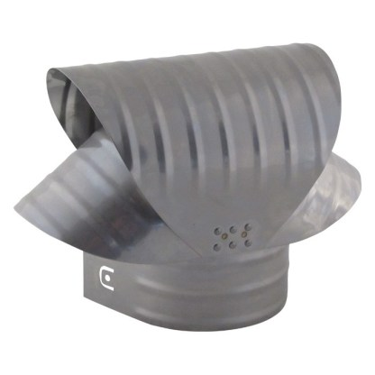 Round Base Chimney Vacuum Cap - Stainless Steel-0