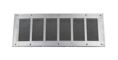 Louvered Foundation Vent with Screen - Aluminum-0