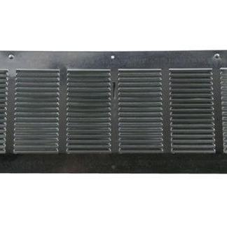 Louvered Foundation Vent with Damper - Galvanized-0