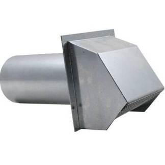 Hooded Wall Vent with Spring Loaded Damper, Gasket and Screen - Galvanized-0