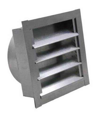 Louvered Gable Vent with Round Transition-0
