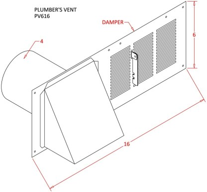 Plumbers Vent -1543