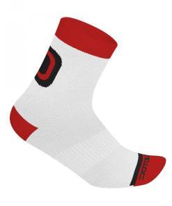 LOGO calcetines medios Blanco-Rojo 10 cm