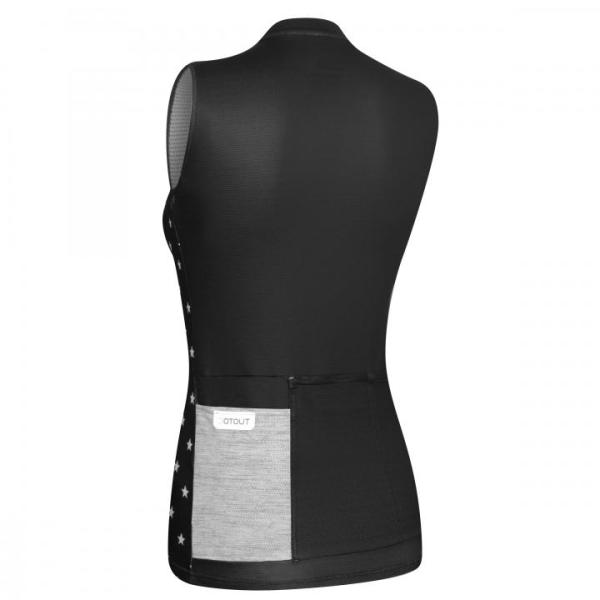 GALAXY maillot s/mangas Negro-Blanco