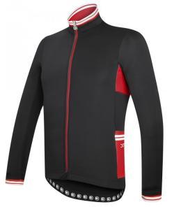combat chaqueta invierno negro-rojo