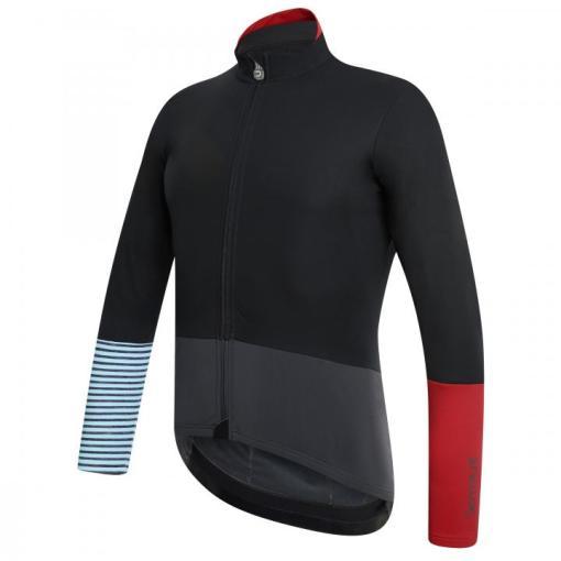 mediterranea chaqueta invierno negro-azul claro-rojo