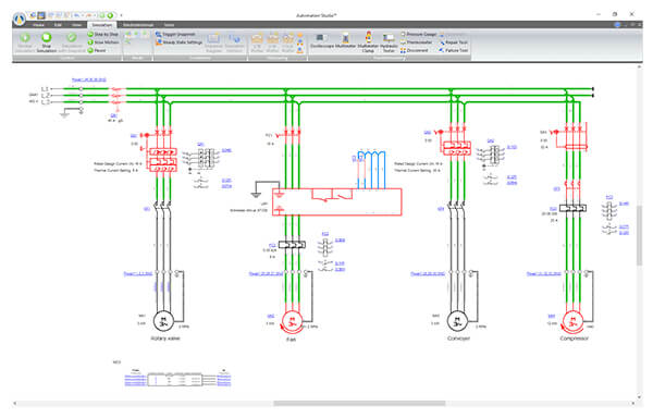 industrial electrical wiring diagram software  lighted spst