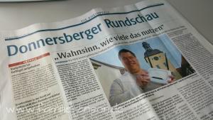 Rheinpfalz, Donnersberger Rundschaut, Titelblatt vom 6. April 2017Rheinpfalz, Donnersberger Rundschaut, Titelblatt vom 6. April 2017