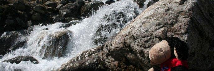 Da kommt ganz schön viel Wasser runter vom Gletscher