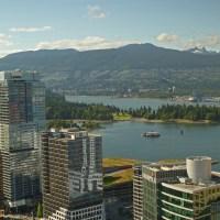 Ausblick aus dem Lookout Tower auf die Stadt und den Stanley Park