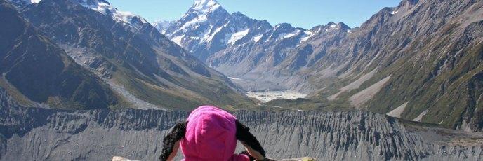 Was für ein Ausblick auf den Mount Cook!