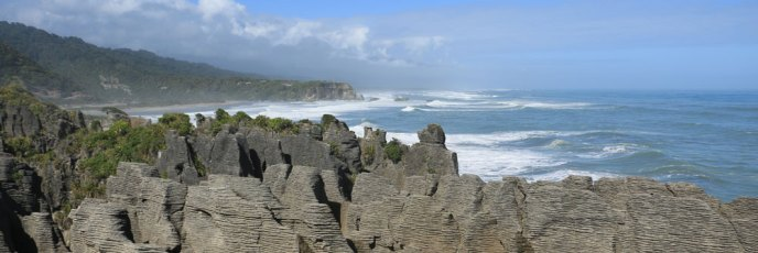 Die Pancake Rocks in Punakaiki