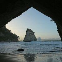 Die Cathedral Cove im Sonnenuntergang - Das nennt man zur rechten Zeit am rechten Ort!