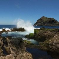 Ein nettes Wellen-Spektakel in Garachico