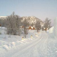 Die Anlage des Schneehotels