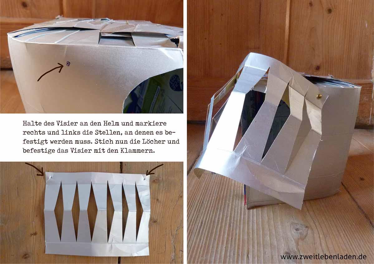 Ritterhelm aus Tetra Pak - Ritterrüstung