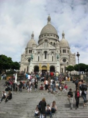 Sacré-Coeur - mit Touristen