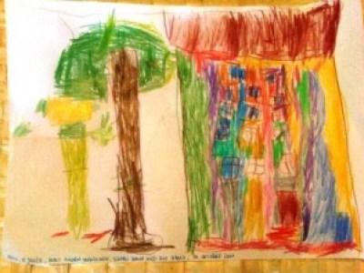 Kinderbild - Resultat eines Regentags
