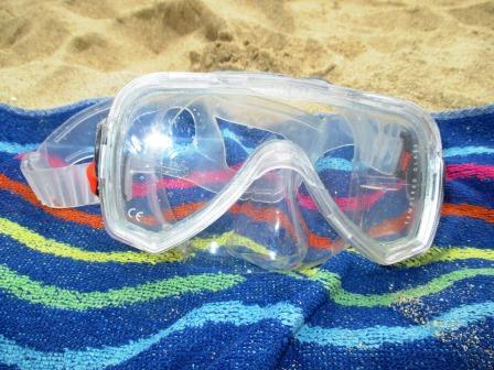 Taucherbrille. Funktioniert im Wasser.
