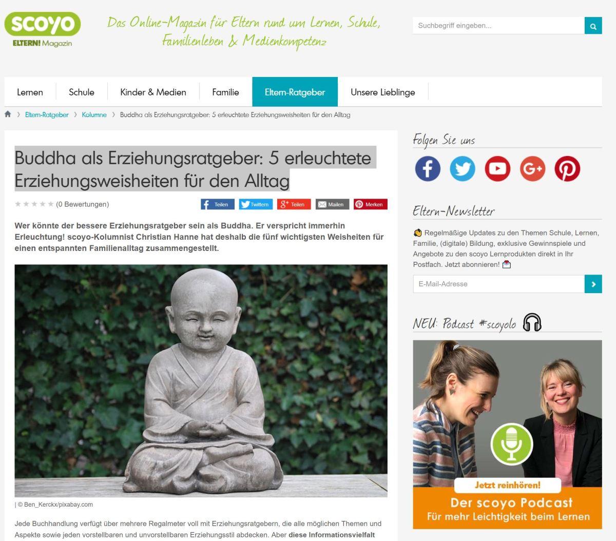 Buddha als Erziehungsratgeber: 5 erleuchtete Erziehungsweisheiten für den Alltag