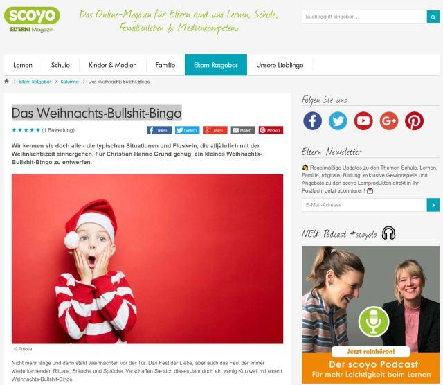 scoyo-Kolumne: Das Weihnachts-Bullshit-Bingo