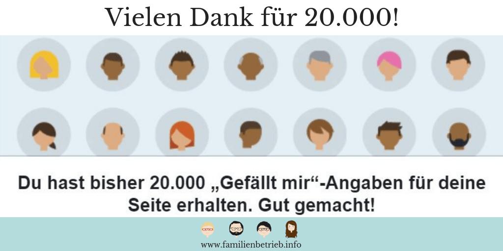 "20.000 ""Gefällt mir""-Angaben. Toll!"