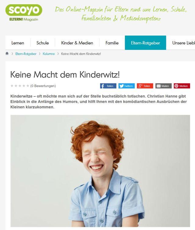 scoyo-Kolumne: Keine Macht dem Kinderwitz!