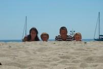 La famille Morin sur la plage de Cupabia