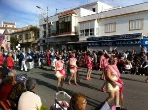 La famille nomade  au carnaval de Chipiona Espagne 2014
