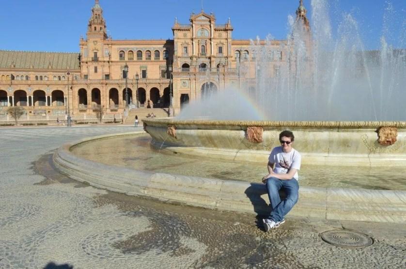 Andalousie-Séville-La plaza Espana avec la famille nomade digital