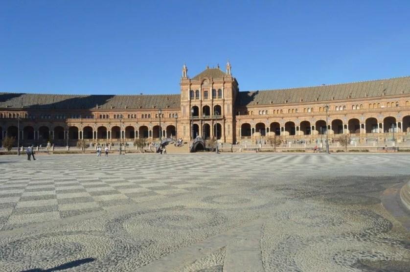 Andalousie-Séville- Plaza Espana- famille nomade digitale